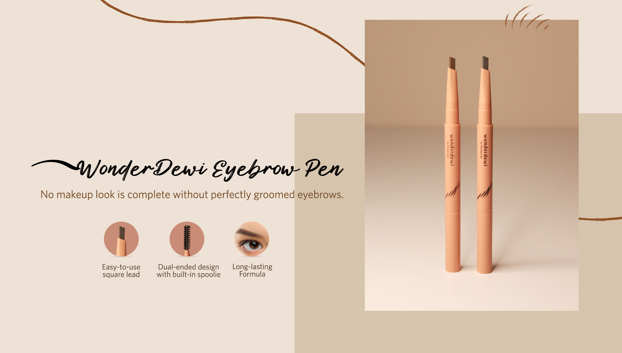 WD Eyebrow pencil page banner